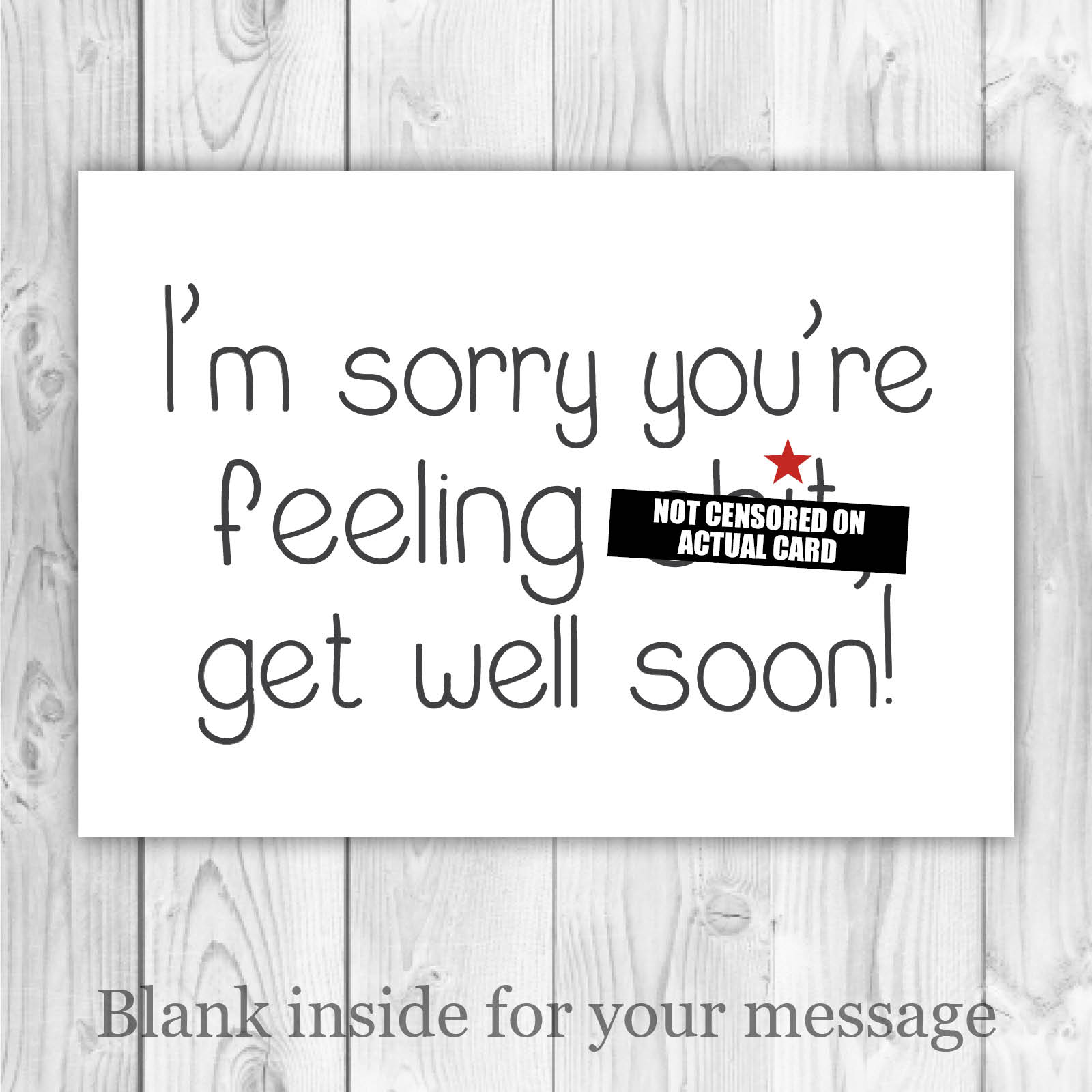 Get Well Soon Card For Friend Wife Husband Girlfriend Boyfriend Rude